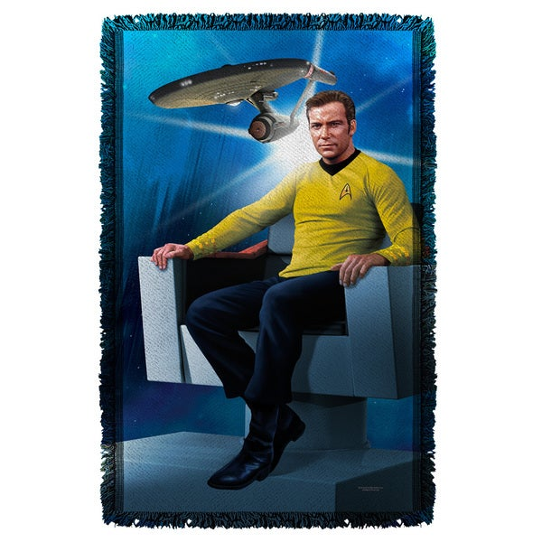 Star Trek/Captains Chair Graphic Woven Throw