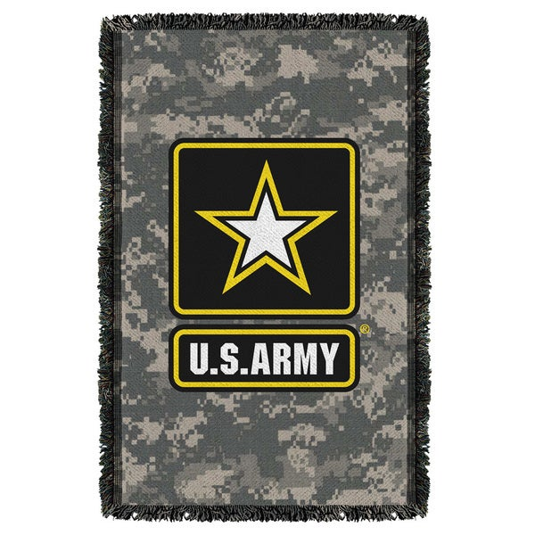 Army/Patch Graphic Woven Throw