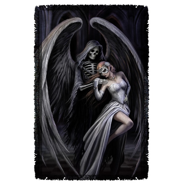 Anne Stokes/Dance With Death Graphic Woven Throw