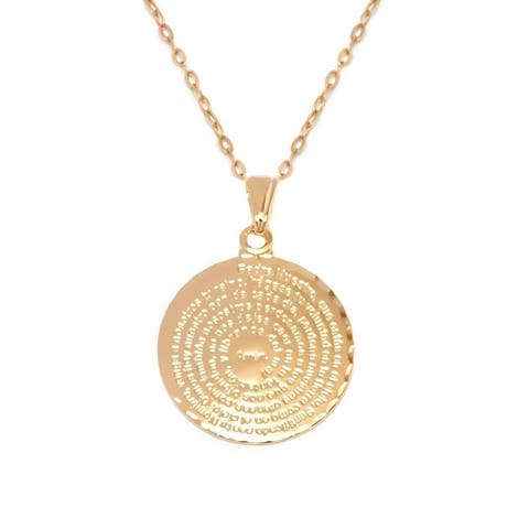 Goldplated Spanish Pray Pendant Necklace - Gold