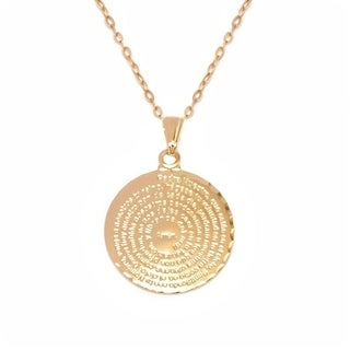 Goldplated Spanish Pray Pendant Necklace