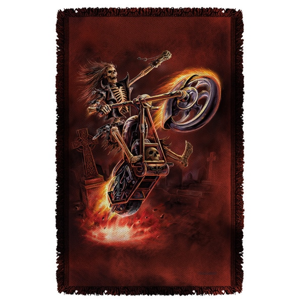 Anne Stokes/Hellrider Graphic Woven Throw
