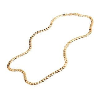 Goldplated 24-inch Curb Link Chain Necklace