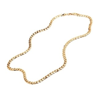18k Goldplated 24-inch Curb Link Chain Necklace