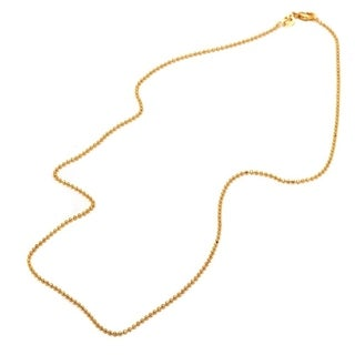 18k Goldplated 20-inch Ball Bead Chain Necklace