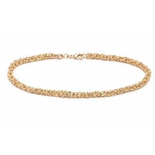 Goldplated Meshed Ankle Bracelet - Gold