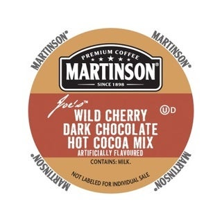 Martinson Hot Chocolate Wild Dark Cherry Chocolate, RealCup Portion Pack For Keurig Brewers