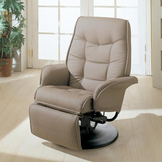 Porch & Den Alonzo Leatherette Swivel Manual Recliner Chair