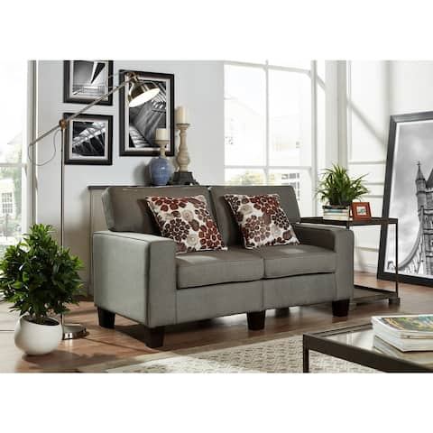 Contempory Fabric Armed Loveseat