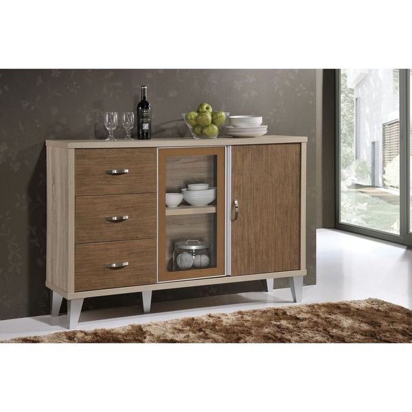 Modern Dining Room Cabinets: Shop Eastwest Brown Wood Buffet Cabinet