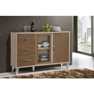 Eastwest Brown Wood Buffet Cabinet