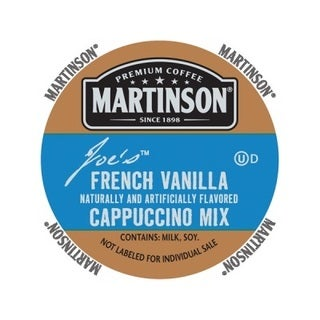 Martinson Cappuccino/Latte French Vanilla Cappuccino RealCup Portion Pack