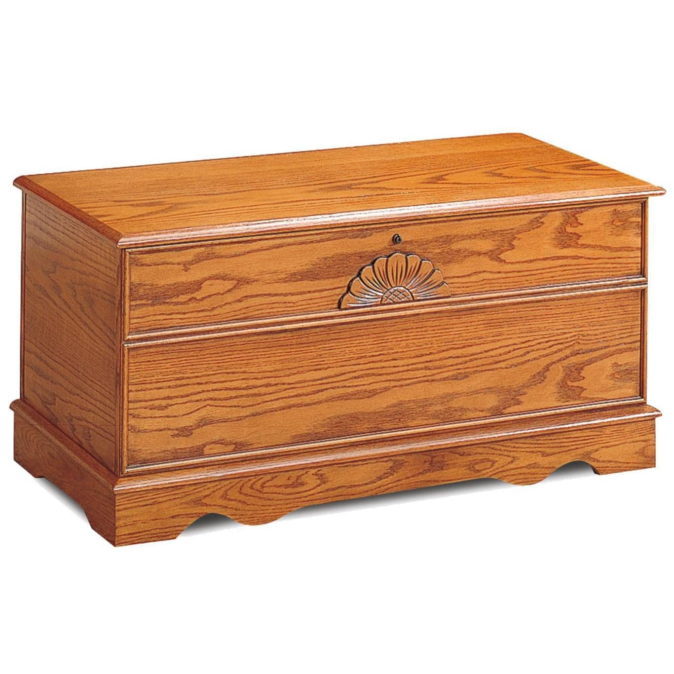 Coaster Furniture Cedar Chest with Locking Lid (Oak Finis...