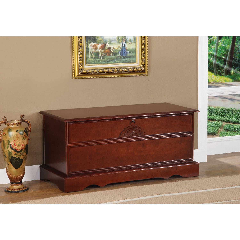 Coaster Furniture Cedar Chest with Locking Lid (Cherry Fi...