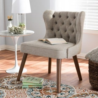 Baxton Studio Efthalia Mid-Century Modern Upholstered Tufted Accent Chair