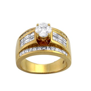 Beverly Hills Charm 14k Yellow Gold 2 ct TDW Engagement Ring