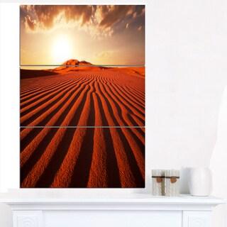 Endless Brown Desert Dunes - Modern Landscape Wall Art Canvas