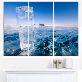 Blue Ice under Bright Sky - Landscape Artwork Canvas