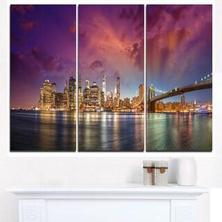 New York Manhattan Skyline with Clouds - Cityscape Canvas print