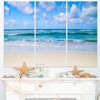 Serene Blue Tropical Beach - Large Seashore Canvas Print