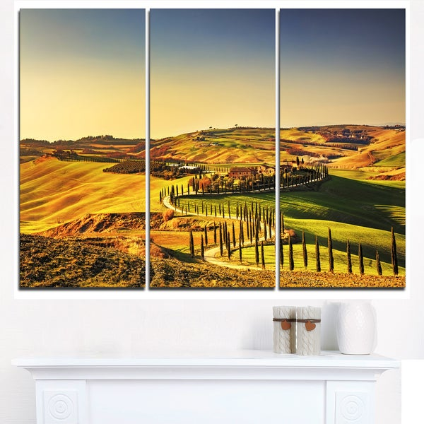 Crete Senesi Rural Landscape Tuscany - Oversized Landscape Wall Art ...