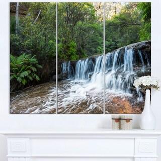 Beautiful Waterfall in New Australia - Landscape Art Print Canvas