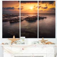 Sunset over African Seashore - Oversized Beach Canvas Artwork