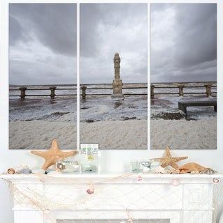Spring Storm in Uruguay Panorama - Large Sea Bridge Canvas Art Print