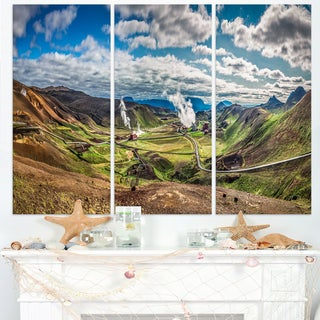 Geothermal Power Station Panorama - Extra Large Seashore Canvas Art