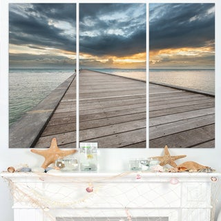 Beach Sunset in Koh Samui Thailand - Sea Bridge Canvas Wall Artwork