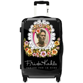 iKase 'Frida Flower Ornament' 24-inch .Hardside Spinner Luggage|https://ak1.ostkcdn.com/images/products/12235039/P19078670.jpg?impolicy=medium