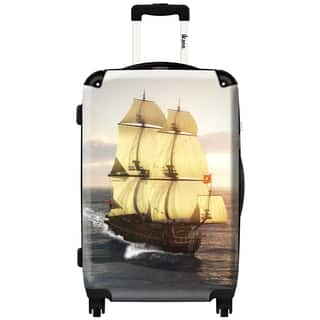iKase 'French Warship' 24-inch Fashion Hardside Spinner Suitcase|https://ak1.ostkcdn.com/images/products/12235122/P19078737.jpg?impolicy=medium