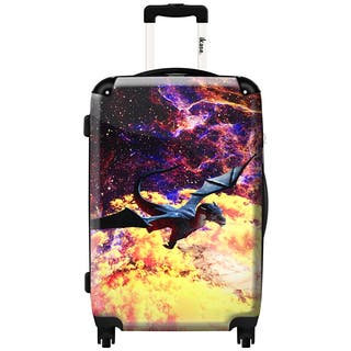 iKase 'Planet of The Dragon' 24-inch Fashion Hardside Spinner Suitcase|https://ak1.ostkcdn.com/images/products/12235125/P19078740.jpg?impolicy=medium