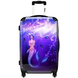 iKase 'Rainbow Mermaid' Check-in 24-inch,Hardside Spinner Suitcase