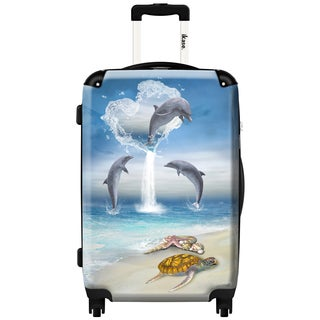 iKase 'Dolphins' 24-inch Fashion Hardside Spinner Suitcase