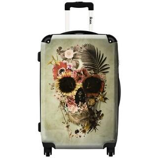 iKase 'Garden Skull Light' Check-in 24-inch,Hardside Spinner Suitcase