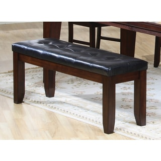 Coaster Company Dining Bench With Black Cushion Seating (Oak Finish)
