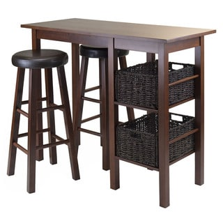 Winsome Egan 5-Piece Breakfast Table Set with 2 Round Stools