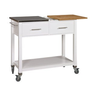 Chop and Prep White Kitchen Island
