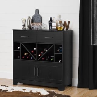 South Shore Vietti Bar Cabinet with Bottle Storage and Drawers