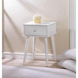 Calla Classic White Wooden Accent Table