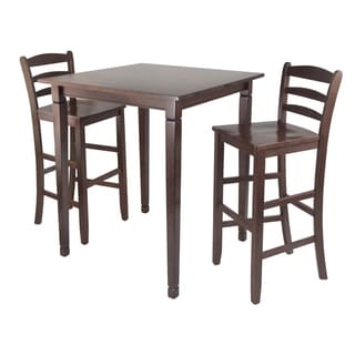 Winsome Kingsgate 3-piece Walnut Pub Dining Set