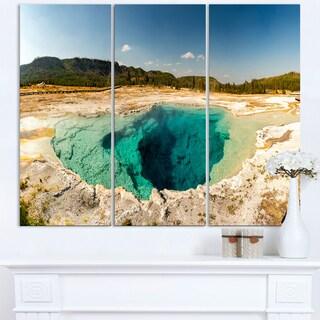 Yellow Stone Pool Panorama - Landscape Print Wall Artwork