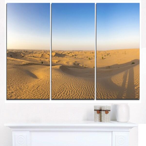 Sand Dunes Desert in Dubai - Landscape Artwork Canvas