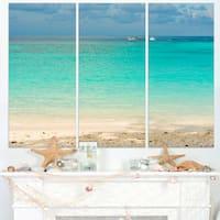 Tropical Andaman Sea with Blue Sky - Modern Seascape Canvas Artwork