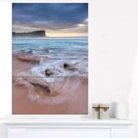 Bright Sydney Sea with Long Waves - Large Seashore Canvas Print