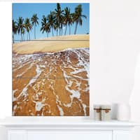 Tropical Beach with Crystal Waters - Large Seashore Canvas Print