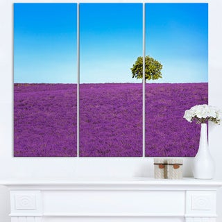 Lonely Tree in Lavender Field - Oversized Landscape Wall Art Print