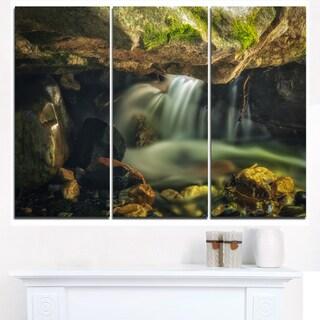Wasatch National Forest Waterfall - Landscape Art Canvas Print