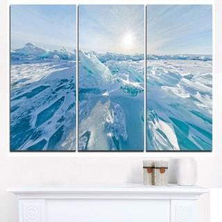 Blue Ice Hummocks Baikal Panorama - Landscape Artwork Canvas